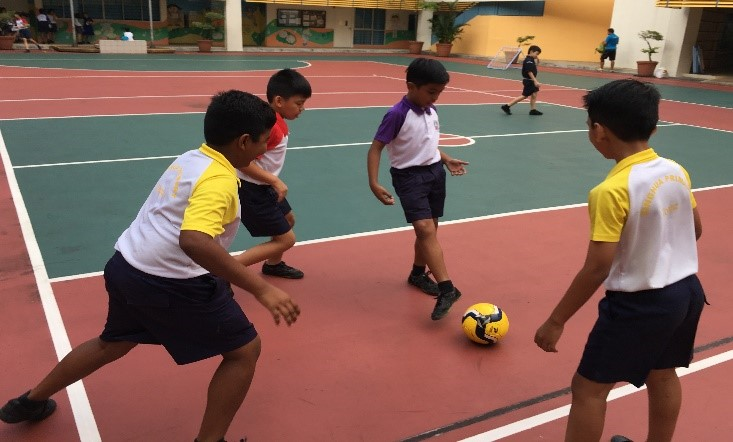 In Action During Training Dribbling Practice.jpg